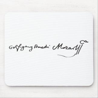 Firma del músico Wolfgang Amadeus Mozart Alfombrilla De Ratones