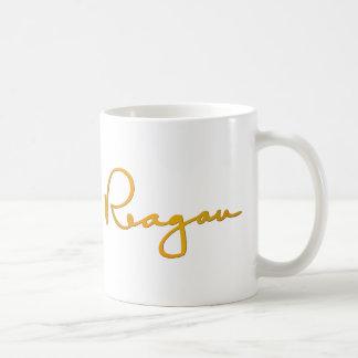 Firma del oro de Ronald Reagan Tazas
