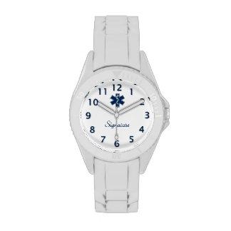Firma del paramédico EMT el ccsme Relojes De Pulsera