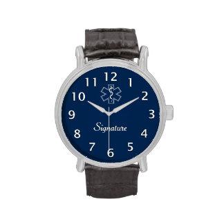 Firma del paramédico EMT el ccsme Reloj