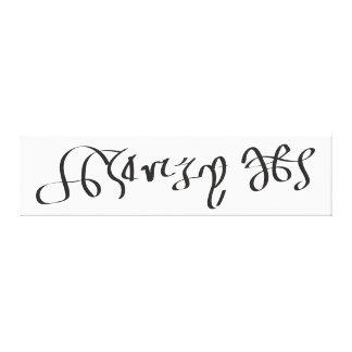 Firma del rey Enrique VIII de Inglaterra Impresión De Lienzo