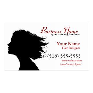 firma en rojo plantilla de tarjeta de negocio