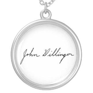 Firma manuscrita de John Dillinger Joyerias