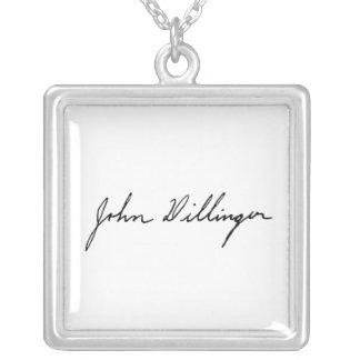 Firma manuscrita de John Dillinger Collar Personalizado