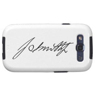 Firma manuscrita del profeta mormón Joseph Smith Samsung Galaxy S3 Fundas
