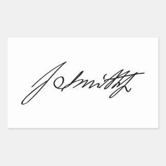 Firma manuscrita del profeta mormón Joseph Smith Rectangular Pegatinas