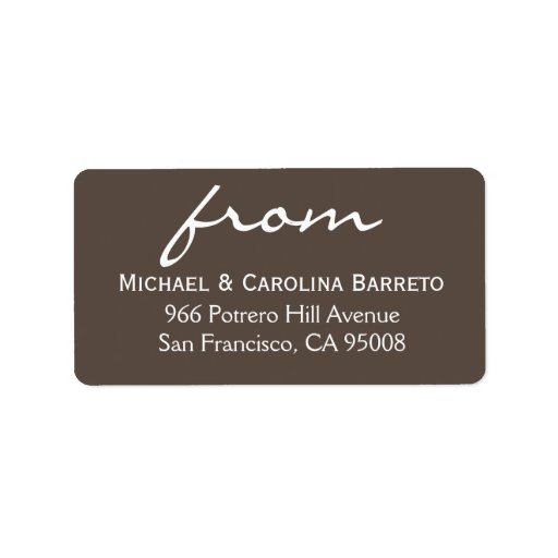 Firma simple - gris etiquetas de dirección