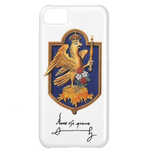 Firma y escudo de armas de Ana Bolena Funda Para iPhone 5C