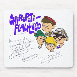 Firmado: EL Capi, Locomotoro, Valentina, Tío Aquil Tapetes De Raton