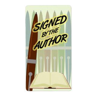 Firmado por las etiquetas del autor etiqueta de envío