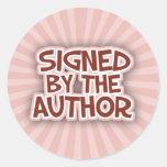 Firmado por los pegatinas de AuthorRed