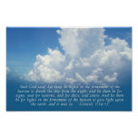 Firmament, Blue Sky Genesis 1:14-15 Print