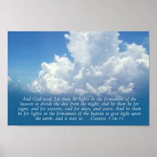 Firmamento, 1:14 de la génesis del cielo azul - im póster