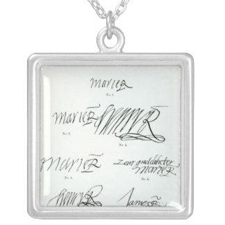Firmas de la reina de Maria de escocés Joyerías