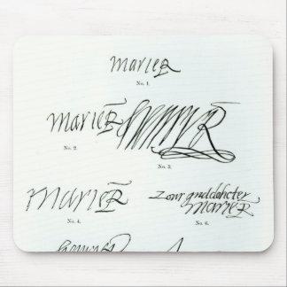 Firmas de la reina de Maria de escocés Alfombrillas De Raton
