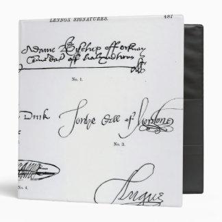 """Firmas del décimosexto y siglo XVII Carpeta 1 1/2"""""""