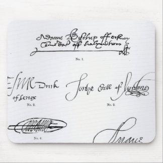 Firmas del décimosexto y siglo XVII Alfombrillas De Ratones