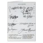 Firmas del escocés décimo quinto y del siglo XVI Tarjeta De Felicitación