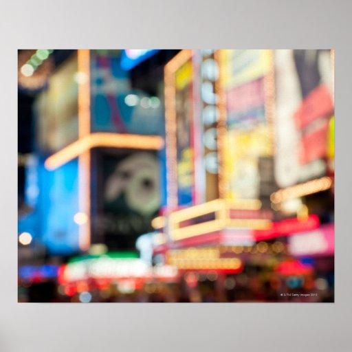 Firme adentro el Times Square Impresiones