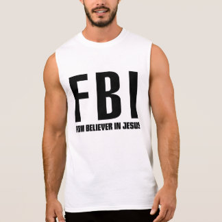 Firme creyente del FBI en Jesús Playeras Sin Mangas