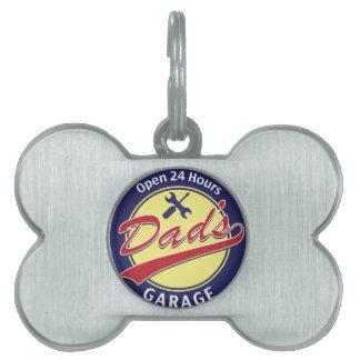 """Firme el """"garaje del papá"""" con el texto editable placas mascota"""