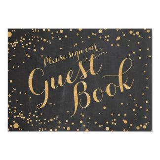 """Firme por favor nuestra muestra del boda del libro invitación 5"""" x 7"""""""