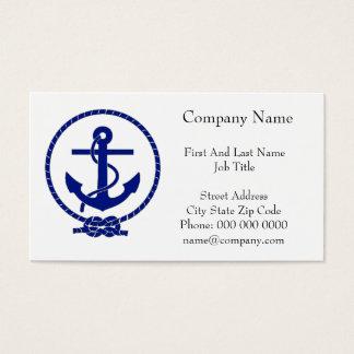Firmly Anchored Nautical Anchor Design Business Card