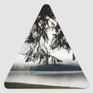 Firs and Lake Triangle Sticker
