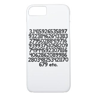 First 100 numbers of Pi iPhone 7 Case