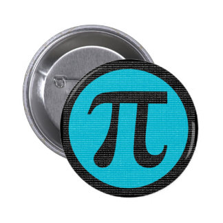First 10,000 digits of Pi, blue on black Pinback Button