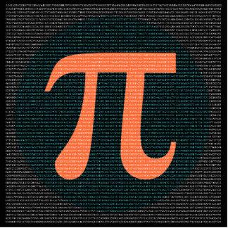 First 10,000 digits of Pi in blue and orange Statuette