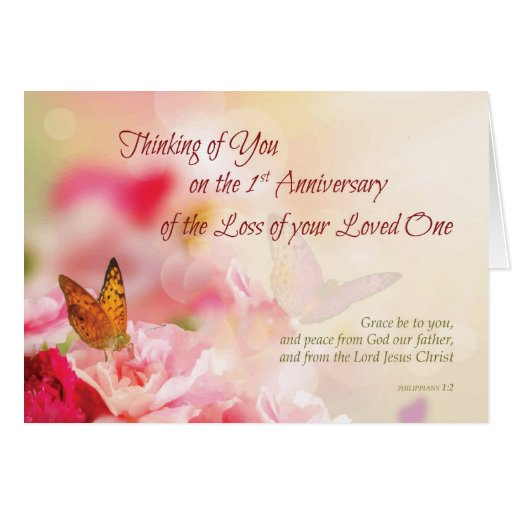 First, 1st Anniversary of Loss of Loved One, Death Card ...