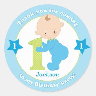 First 1st kids birthday sticker stickers favors