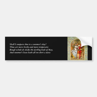 First 4 Lines of Sonnet # 18 by Shakespeare Car Bumper Sticker