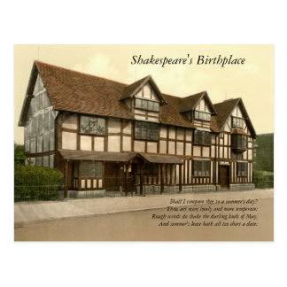 First 4 Lines of Sonnet # 18 by Shakespeare Postcard