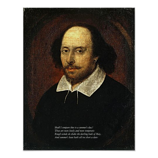 First 4 Lines of Sonnet # 18 by Shakespeare Poster