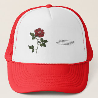 First 4 Lines of Sonnet # 18 by Shakespeare Trucker Hat