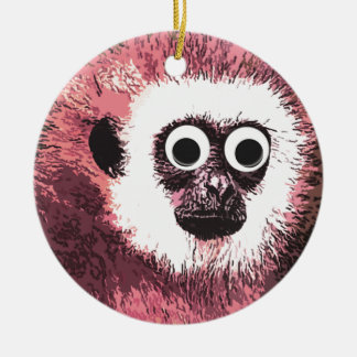 First a little monkey business Double-Sided ceramic round christmas ornament