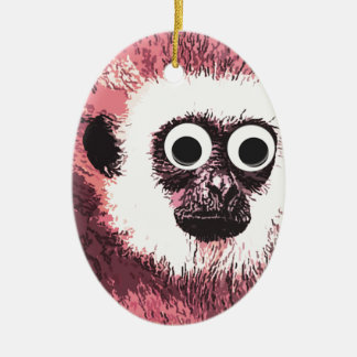 First a little monkey business Double-Sided oval ceramic christmas ornament