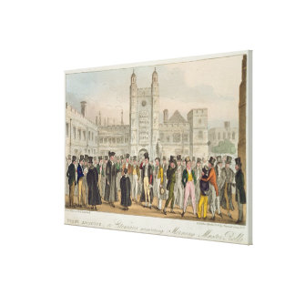 First Absence, or Etonians Answering Morning Maste Canvas Print