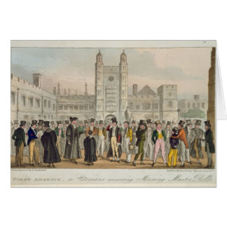 First Absence, or Etonians Answering Morning Maste Card