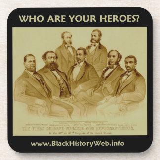 First African American Senator & Representatives Beverage Coaster