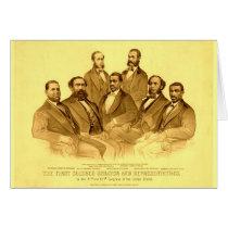 First African American Senator & Representatives Card