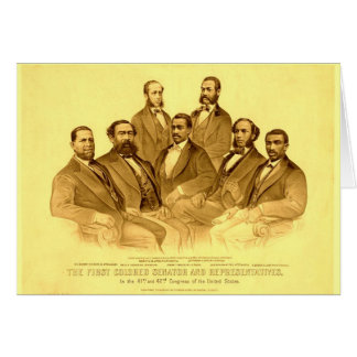 First African American Senator & Representatives Stationery Note Card