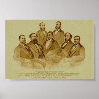 First African American Senator & Representatives Poster
