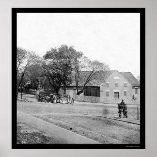 First African Church in Richmond VA 1865 Poster