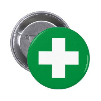 First aid 2 inch round button
