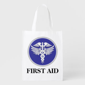 First aid caduceus | Personalize Reusable Grocery Bag