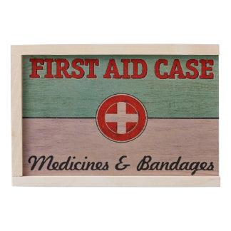 First Aid Case Medicine & Bandages Keepsake Box