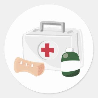 First Aid Classic Round Sticker